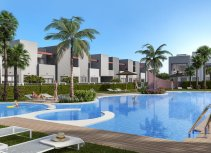 New residential with a large comunal pool in Aguas Nuevas.