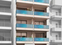 Apartment building with solarium and communal pool in Torrevieja